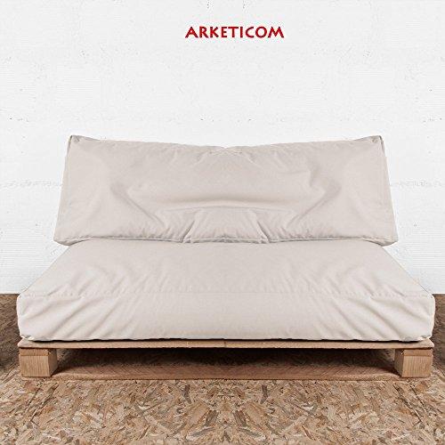 arketicom soft set cuscini pallet bancali da esterno arredo divani giardino tessuto acrilico bianco panna ecru