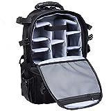 UNHO® DSLR Kamerarucksack Spiegelreflex - Profesioneller Rucksack Kamera Spiegelreflexkameras - Camera Backpack Fotorucksack mit Regenschutz, Stativhalterung für Sony Canon Nikon SLR / DSLR Kameras