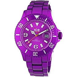 Ice-Watch Unisex Quartz Watch with Purple Dial Analogue Display and Purple Bracelet AL.PE.U.A