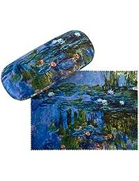 VON LILIENFELD Estuche Gafas Funda Mujer Motivo Arte Floral Claude Monet: Nenúfar