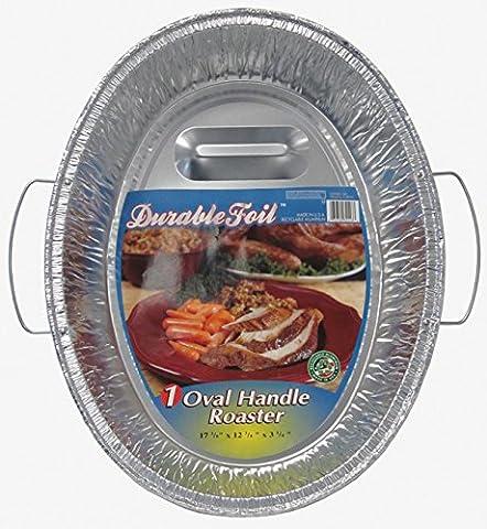 Durable Foil Oval Handle Aluminum Roasting Pan, X-Large, 8-1/2