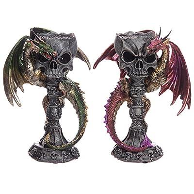 Skull Goblet Dark Legends Dragon Figurine