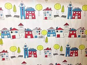 Jours d'école, à Maisons 100%  coton avec motif Prestige Children's Tissu vendu au mètre