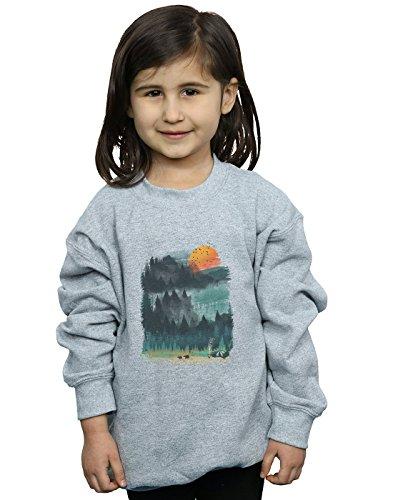 Absolute Cult Dan Dingeroz Mädchen National Parks Sweatshirt Sport Grau 9-11 Years -