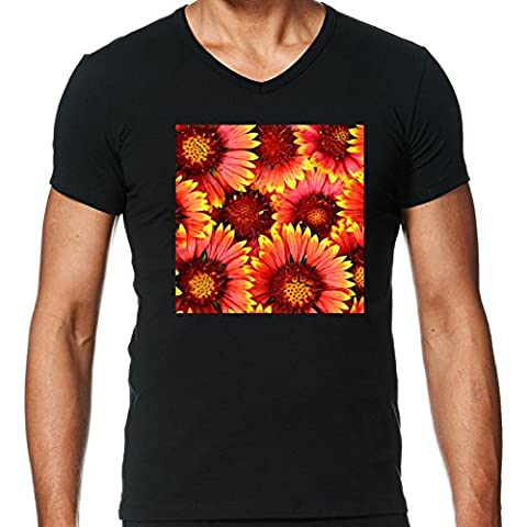 Camiseta V Cuello para Hombre - Naturaleza De La Flor Del Gerbera by WonderfulDreamPicture