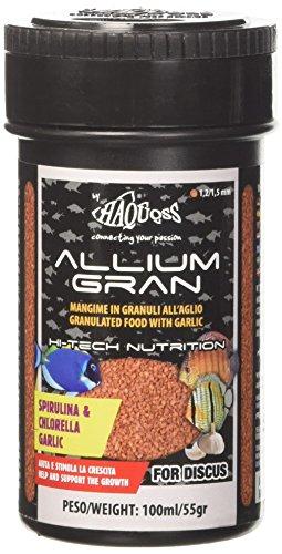 Haquoss Allium Gran Mangime in Scaglie a Base di Aglio per Discus, 100 ml/55 gr