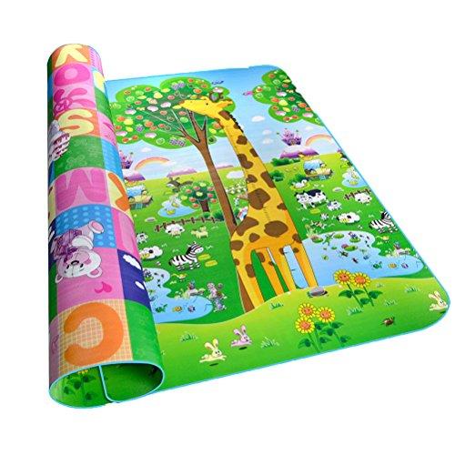 Alfombra Infantil Ambas Caras Impermeable Dibujo Animado 200 x 180 CM