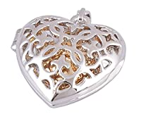 Stainless Steel Silver Hollow Heart Cremation Jewelry Keepsake Memorial Urn Necklace-Free Engraving