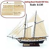 SAFETYON 1:130 Holzschiff Modelle DIY Schiffsmodell kit Boot Schiffe Kits Segelboot Holzmodell Kit Spielzeug