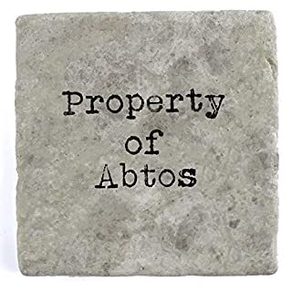 Property of Abtos - Single Marble Tile Drink Coaster