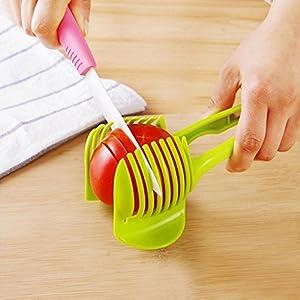 Gazechimp Tomaten Zwiebel Zitrone Slicer Halter Werkzeug Küche Gemüse Obst Cutter