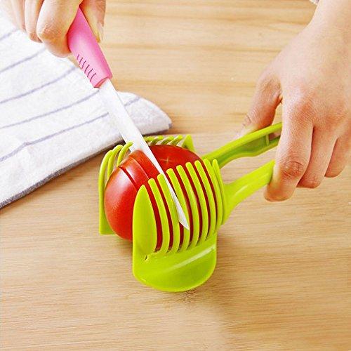 MagiDeal Küche Obst Slicer Gemüse Tomate Clip Halter Zitrone Kartoffel Schneid Messerhalter Werkzeug - 2