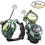 Mokiki Pair Of Walkie Talkie Watch For Kids, Two-Way Long Range Radio Transceiver, Digital Wrist Walky Talky Wrist Watch Outdoor Interphone With Flashlight, Cool Interactive Toy Gift