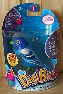 Silverlit DigiBirds mit Ring Blue elektronischer Singvogel Vogel 27 Töne