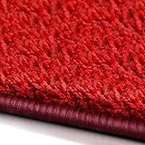 Shaggy Läufer Barcelona   weicher Hochflor Teppichläufer für Flur, Wohnzimmer, Schlafzimmer etc.   mit GUT-Siegel und Blauer Engel   in vielen Größen   moderne Farben   66x300 cm   Rot