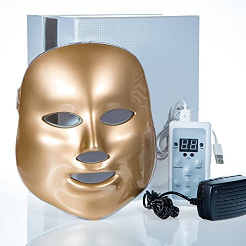 Cuidador 3Color LED máscara Photon luz terapia Rejuvenecimiento Facial Máscara máquina de oro para uso doméstico