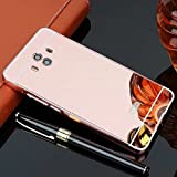TAITOU Huawei Nova Plus Mirror Case, Shiny Awesome Make-up Mirror Plated Aluminum Metal Frame Bumper Slim Cover, Cool 2 in 1 Ultralight Thin Phone Case for Huawei Nova Plus/MaiMang5 Rose Gold