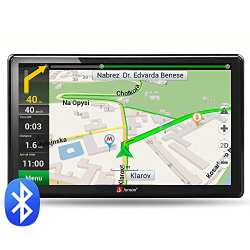 junsun 7Inch 8GB HD Screen Windows CE 6.0GPS Navigation System Europe Map Bluetooth
