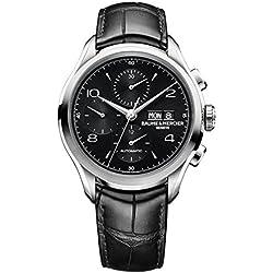 Baume & Mercier–para hombre cronógrafo esfera negra reloj para hombre 10211