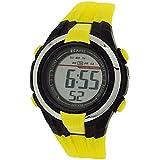 Ravel Kids Alarm Stop Watch Digital LCD Yellow & Black PU Strap Watch RDB-15