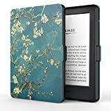 "MoKo Funda para Kindle 8th Generación - Funda de SmartShell Más Delgada y Ligera con Auto Sueño / Estela para Amazon All-New Kindle E-reader (6"" Display, 8th Generacón 2016), Bloom de albaricoque (No es compatible con el kinlde paperwhite)"