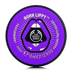 The Body Shop Born Lippy Baume à lèvres en pot Passion fruits rouges 10 ml