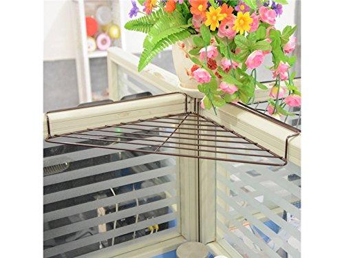 Panpa creativo scaffale per piante da esterno in filo di ferro con vaschette portaoggetti e scomparti per armadietti per ufficio (48x24x5.5cm)