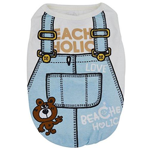 (Yuno New Pet Hund T-Shirt Kleidung Casual Frühling Sommer Herbst Jahreszeiten Fashion Cute Bear Muster Katze Puppy Kleine Tiere Hemd reine Baumwolle Weste Kostüm)