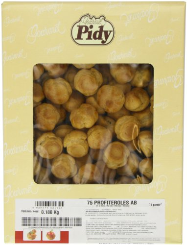 Pidy Round Profiterole Choux Pastry, Golden Brown - 75 Portions