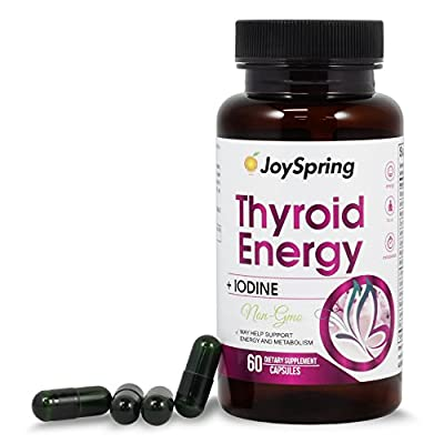 Thyroid Support Supplement - Best Thyroid Complex to Restore Energy, Lose Weight & Boost Focus - Natural Iodine Tablets - Underactive Thyroid Supplements from JoySpring