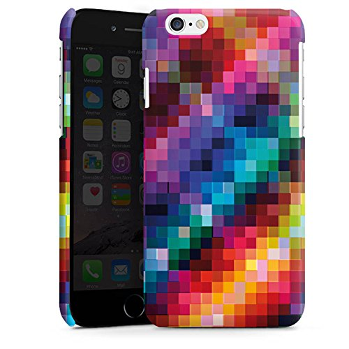 Apple iPhone 5s Housse Étui Protection Coque Pixel couleurs Motif Cas Premium brillant