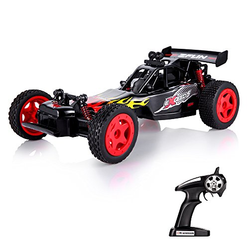 ZFLIN RC Car Remote Control Car 1:16 Scale 2.4Ghz Racing Truck Monster Truck RC Buggy Race Crawler Off Road Electric High Speed 2WD 50M Distance Vehicle Toy Radio Controlled Car Desert Hobby Gift