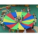Juego Juguete Ejercicio Al Aire Libre Juegan Paracaídas Arco Iris Deporte Niños - 2m, multi color - Desconocido - amazon.es