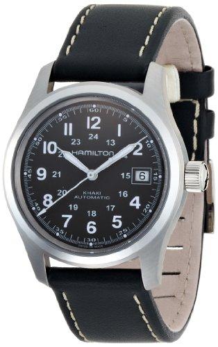 Hamilton Herren Analog Automatik Uhr mit Leder Armband H70455863