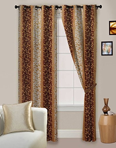 Curtain Beautiful Wine Curtain For Long Door ( Set of 3 ) - 9 Feet ...