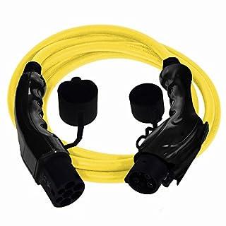 EV Cables Premium Euro Series Ladekabel für Elektroautos mit Bonus Tragetasche Typ 1 bis Typ 2-32 amp | 5 meter | 7.2kW - Gleb