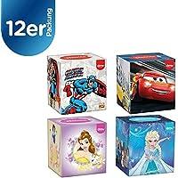 Kleenex 3417812Disney pañuelos de papel, cuadrada, Cars/Marvel/Princesses–Pack de 12 cajas