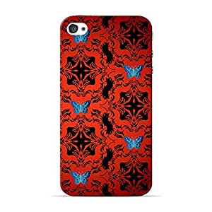 INKIF Warrior Abstract Designer Case Printed Mobile Back Cover for Apple iPhone 4s(Red)