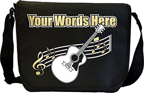 Acoustic Guitar - Angefertigt Personalisiertes Sheet Music Document Bag Musik Noten Tasche MusicaliTee