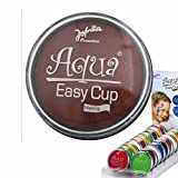 Amakando Aqua Schminke Party Wasserschminke braun Aquaschminke Wasser Make Up Karneval Accessoires Faschingsschminke Kosmetik Wasserlösliches Makeup