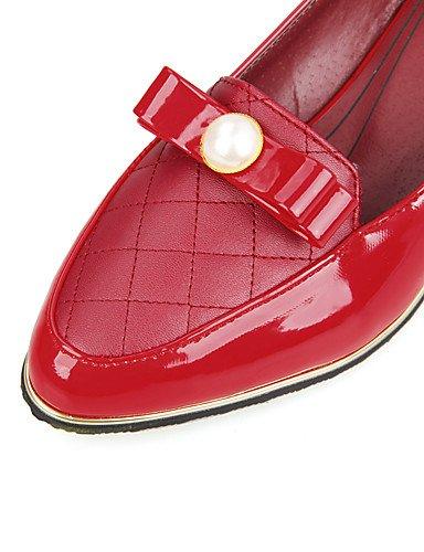 WSS 2016 Chaussures Femme-Bureau & Travail / Décontracté-Noir / Rouge / Blanc-Gros Talon-Confort / Bout Pointu / Bout Fermé-Talons-Polyuréthane white-us8 / eu39 / uk6 / cn39