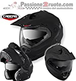 Caberg Tourmax Black Matt Casco, color negro Opaco S modular enduro casque modularhelm helmet