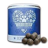 TIERLIEBHABER Zecken-Snack (350g) | Zusätzliche natürliche Unterstützung der Zecken-Prävention bei Hunden | Für Welpen geeignet | 2 Monatsrationen für mittelgroße Hunde