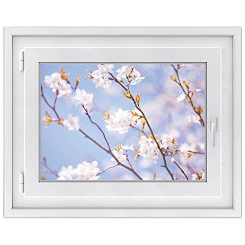 Premium Fensterbild | selbsklebende Fensterfolie - dekorative Klebe-Folie für Fenster - hochwertige Fensteraufkleber | Home Dekoration - Fenstergestaltung | Fensterfolie 70 x 50 cm - Apple Blossoms