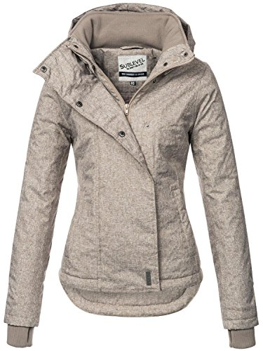 Sublevel Sportliche Damen Winter Jacke 46550D1 in Braun Gr. S