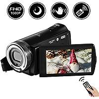 """Videocamera Full HD 24.0 MP fotocamera digitale 1080p 3,0 """"girevole LCD visione notturna VLogging Webcam pausa funzione"""