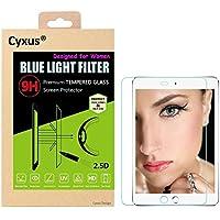 Cyxus filtro de luz azul pantalla bloqueo uv [mejor sueño] 9H protector de pantalla de vidrio temperado para iPad Air 1 / iPad Air 2 (9,7 pulgada)