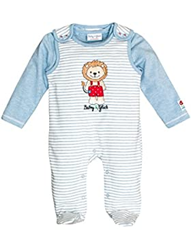 SALT AND PEPPER Baby-Jungen Strampler BG Playsuit Stripe Löwe Ocs