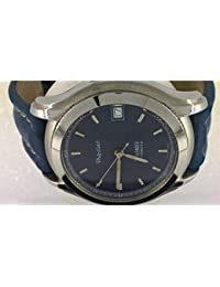 Montre Philip Watch sealander 8221460025 automatique acier Quandrante Bleu Bracelet Cuir