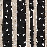 Schwarzes Wachstuch mit Streifen von echino